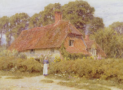 Dirt Roads Painting - Sunflowers by Helen Allingham