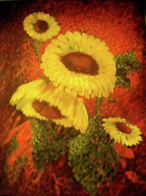 Painting - Sunflowers In The Morning by Victor Cuya