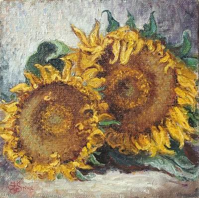 Flower Painting - Sunflowers by Irek Szelag