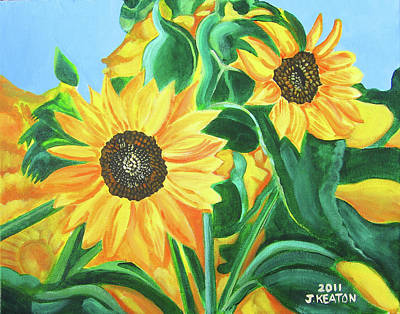 Sunflowers Art Print by John Keaton