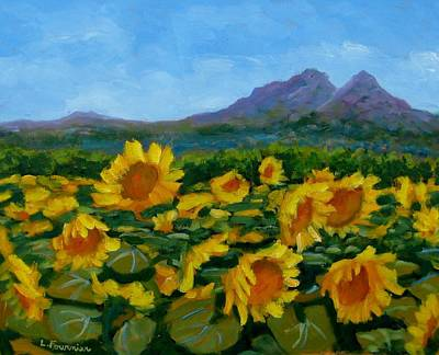 Painting - Sunflowers by Liliane Fournier