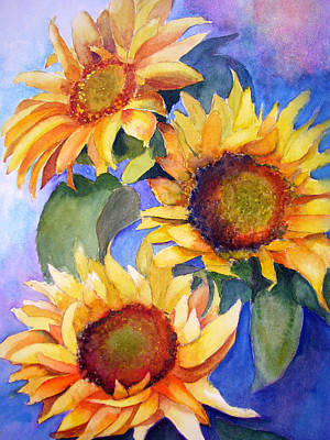 Sunflowers Art Print by Lori Chase