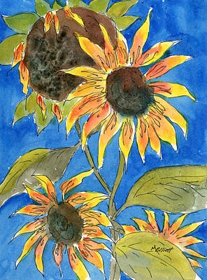 Sunflower Painting - Sunflowers by Marsha Elliott