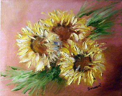 Sunflowers Art Print by Raymond Doward