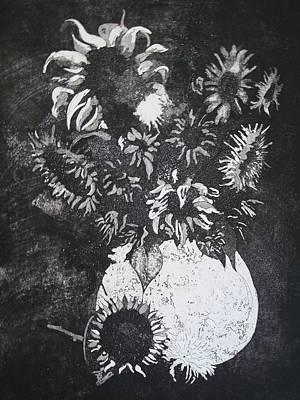 Sunflowers Art Print by Sonja Guard