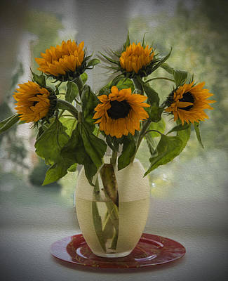 Photograph - Sunflowers by Vladimir Kholostykh