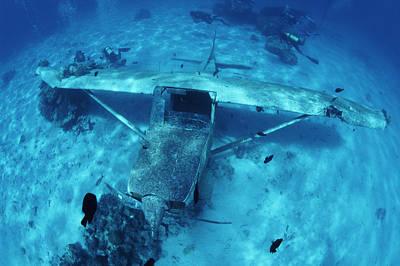 Underwater Breathing Photograph - Sunken Plane by Alexis Rosenfeld