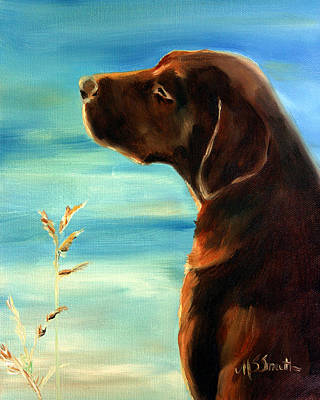 Labrador Painting - Sunkissed by Mary Sparrow