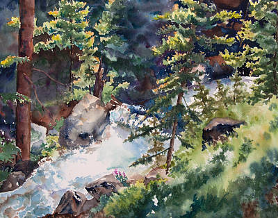 Sunlight And Waterfalls Art Print by Amy Caltry