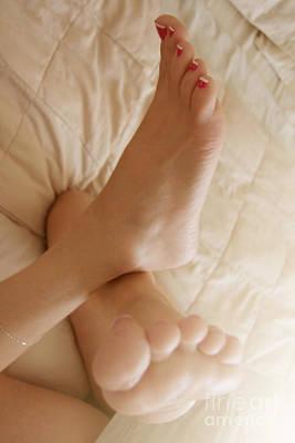 Photograph - Sunlight Feet by Tos Photos