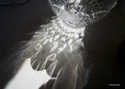 Sunlight On Crystal Bowl Art Print by Suhas Tavkar