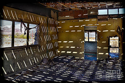Sunlight Through Roof Slats Art Print