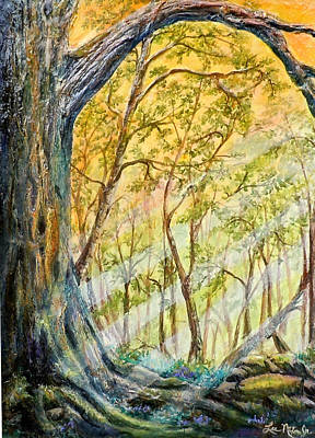 Painting - Sunlit Forest by Lee Nixon