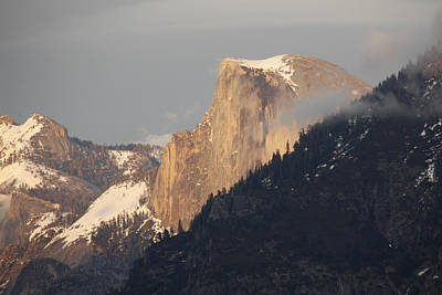 Photograph - Sunlit Half Dome by Wes and Dotty Weber
