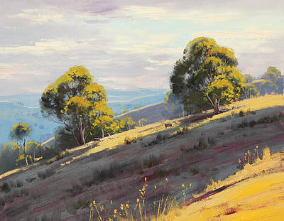 Sunlit Hills Hartley Art Print