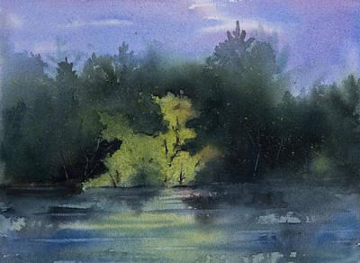 Painting - Sunlit Island by Debbie Homewood