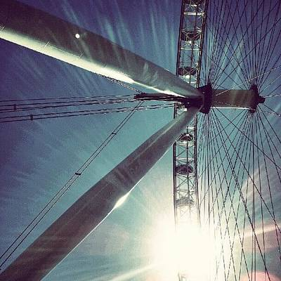 Sunny Photograph - Sunnd Day In London, London Eye by Abdelrahman Alawwad