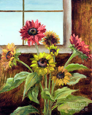 Painting - Sunning In The Window by Vic  Mastis