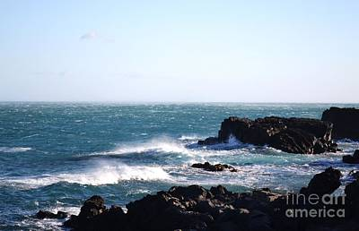 Art Print featuring the photograph Sunny Day And Stormy Sea 4 by Kathleen Pio