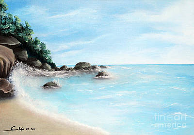 Water Scape Painting - Sunny Day by Seth Corda