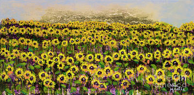 Painting - Sunny Field On Gold Leaf By Vic Mastis by Vic  Mastis