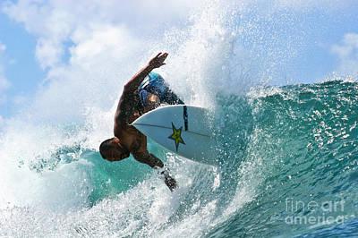 Sunny Garcia Surfing At Bowls Art Print
