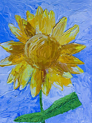 Sunflower Painting - Sunny by Heidi Smith