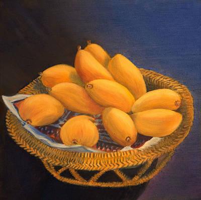 Mango Painting - Sunny Mangos by Elena Melnikova