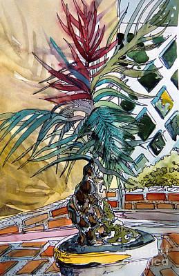 Sunny Palms Art Print by Mindy Newman