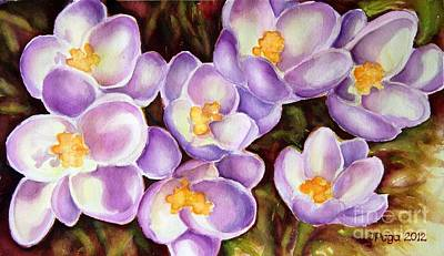 Painting - Sunny Purple by Inese Poga