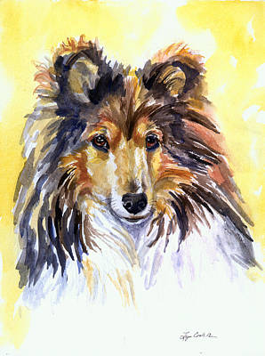 Sunny Sheltie Art Print by Lyn Cook
