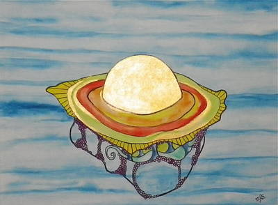 Painting - Sunny Side-up Jellyfish by Erika Swartzkopf