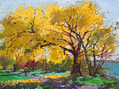 Autumn Painting - Sunny Sunday With Viola by Ylli Haruni