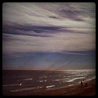Surrealism Wall Art - Photograph - Sunny Winter Day. #ocean #beach #surf by Emily W