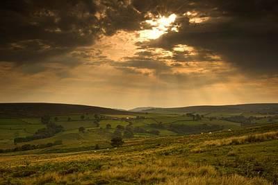 Sunrays Through Clouds, North Art Print by John Short