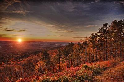 Sunrise 2-talimena Scenic Drive Arkansas Art Print