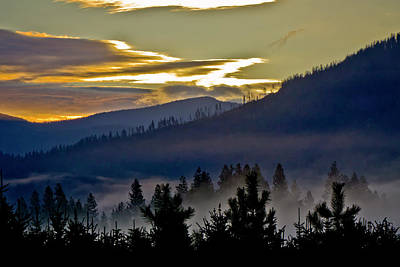 Art Print featuring the photograph Sunrise And Valley Fog by Albert Seger
