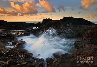 Beach Photograph - Sunrise Arch by Mike  Dawson