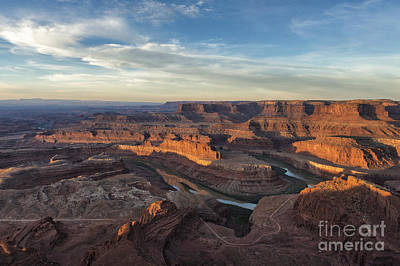 Photograph - Sunrise At Dead Horse Point State Park by Sandra Bronstein