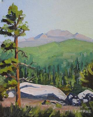Nature Center Painting - Sunrise At Idyllwild's Nature Center by Marcus Thorne