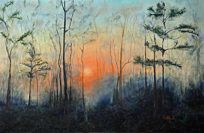 Pinetree Painting - Sunrise At Pike Road by Patricia Caldwell