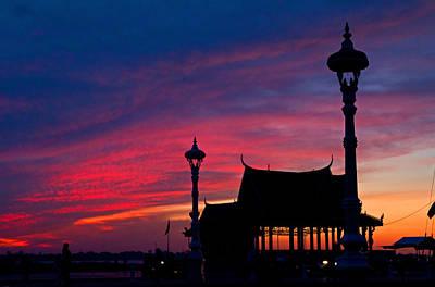 Photograph - Sunrise At Sisowath Quay. by David Freuthal