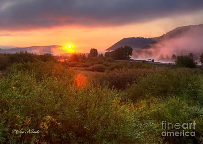 Sunrise At Snake River Art Print