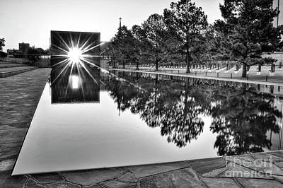 Photograph - Sunrise At The Alfred P Murrah Memorial by Tamyra Ayles