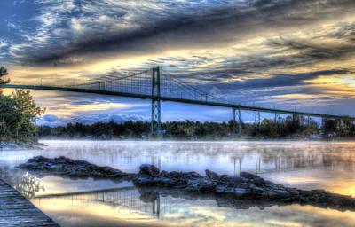Sbatdorf Digital Art - Sunrise At The Bridge by Sharon Batdorf