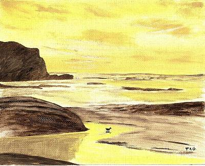 Painting - Sunrise At The Seashore by Jessi and James Gault