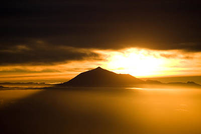 sunrise behind Mount Teide Print by Ralf Kaiser