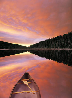 Sunrise Clouds Over Winchell Lake Art Print by Darwin Wiggett
