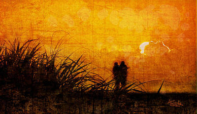 Digital Art - Sunrise Couple by Alan Sherlock