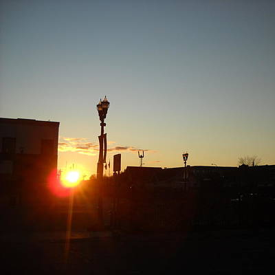 Photograph - Sunrise Downtown Grand Rapids Mn by Kent Lorentzen